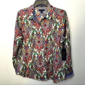 Tommy Hilfiger Paisley Button Down Long Sleeve